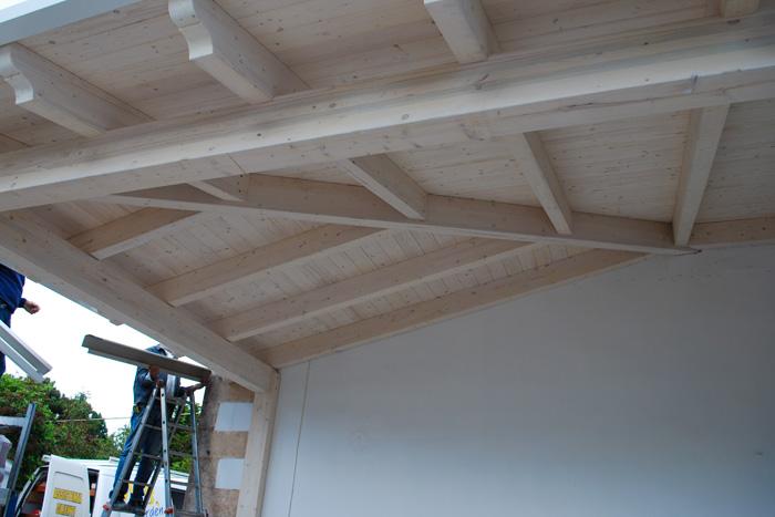 Perfect with tettoie per terrazzi for Tettoie in legno usate